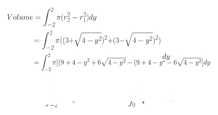 T(-rdy Volume 2 /4- P) # (3+ /4- 22+(3-\/4-) - 2 2 dy 6/4- y2 - (9 4- y6/4-y2dy T[(94 Jo J4