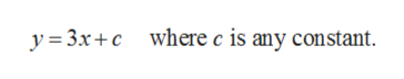 y 3xcwhere c is any constant