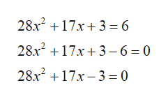 28x217x3 6 28x217x3- 6 0 28x217x-3 = 0