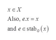χεΧ Also, e.x x and e e stab (x)
