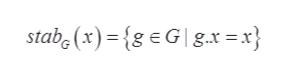 stabe (x){geG gx = x}