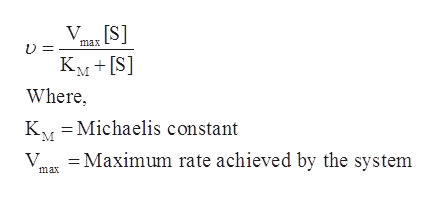 max KMS] Where, K/ Michaelis constant =Maximum rate achieved by the system max