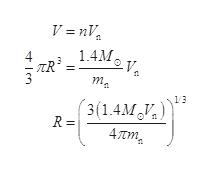V =nV 1.4M 4 TR 13 3(1.4M R = 4 tm