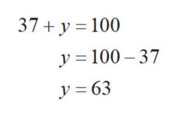 37 y 100 y 100 37 y=63
