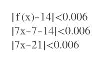If(x)-14<0.006 17x-7-141<0.006 17x-21<0.006