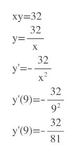 ху%332 32 у3 32 у'3- х? 32 У'9)- 92 32 У (9)- 81