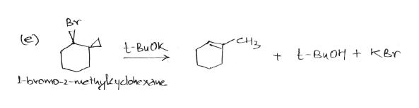 Br CHz tBuOk t-BuoH + kbr -bvomo-2-nethyleycloke xawe