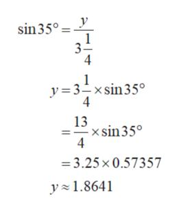 sin35° y=3_xsin35° 4 13 -xsin35° 4 3.25x0.57357 y1.8641