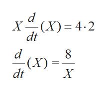 X(X 4.2 dt - (X) dt X