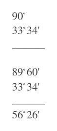 90 33'34 89 60 33'34 56 26'