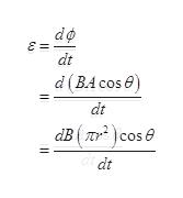do dt d(BA cose) dt dB(70 )cos dt