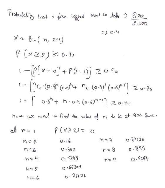 "Prokab:i that a fish topged rout to Johe 00 2,00 o.4 XnBinn, o4) P(z) 6.90 -elx]+Pe- 20f0 2 o-9a o6 n.o. (0.6"" zo.1 how, we nueed to find thu valut o n to be at 01. Sunt at P(x2 2 O ০.৪१।36 o.16 n 2 ০.৪৭3 o 352 n 2 o.5248 o.9294 O 66 304 h 5 o76672 h 6"