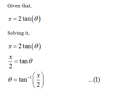 Answered If X 2 Tan Theta Write The Expression Bartleby