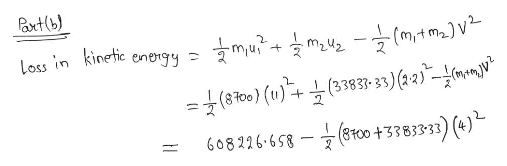 axt(b) (m/tm2)V 2 Loss in kinetic energy m2u2 굿(870) (u) -+ 늑(383-33) (12)-(mmgu 608226.658-7 (8100+3383333) (4)