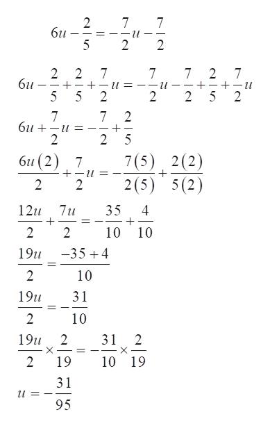 2 6u 7 и 2 2 2 6и 2 7 7 7 2 7 + 5 2 и и _ 5 2 2 2 7 би + 2 7 2 _ 2 5 би (2) 7 7(5) 2(2) 2(5) 5(2) 2 2 7u 12u 35 10 2 2 10 -354 19u 11 2 10 31 19u 2 10 19u 2 31 2 X X 11 2 19 10 19 31 95 7
