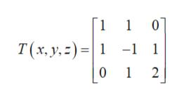101 1 T (x, y,)1 -1 1 0 1 2