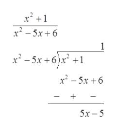 x2-5x6 1 x-5x+6x + x2-5x6 5x-5