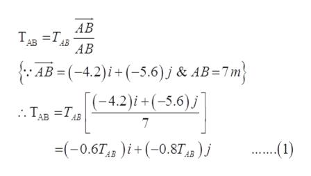АВ АВ АВ AB=(-4.2)i+(-5.6)j & AB=7m (-4.2)i+(-5.6) : ТАв 3Тив 7 (-0.674 )i(-0.8T)j АВ
