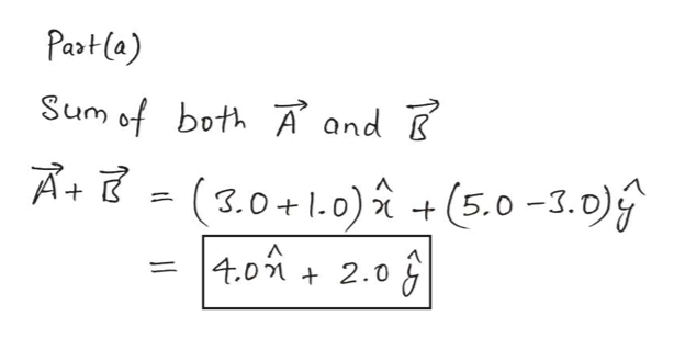 Partla) Sum of both À and B (3.0+1.0)(5.0-3.0) |4.0 2.0