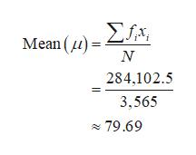 Mean )= N 284,102.5 3,565 79.69
