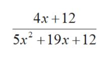 4x 12 + 5x2 19x 12