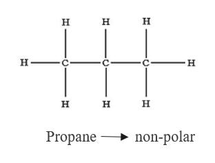 н н н н- н н н н non-polar Propane