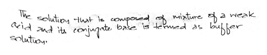 The solutionhat le compoud miture a weak base is termed as bibber aeidand t olution renjute