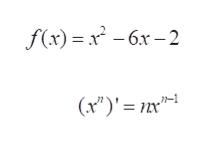 - x* - 6х -2 -бх — 2 f(x) (x)'n т