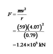 mу? F= r 4.0 0.79 1.24x103 kN