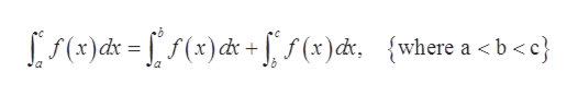 (x)ds=ff(x)d + (+)dt, {where a < b-<c}
