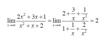 3 1 2++ +3x+1lim x =2 lim x2x2 1 2 1++