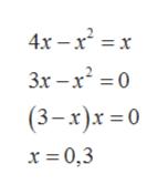 4x-r2 x 3x -x20 (3-x)x 0 x 0,3