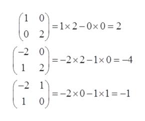 1 0 1x2-0x0 2 2 -2 0 =-2x2-1x0 -4 1 2 -2 1 =-2x0-1x1 -1 0 1