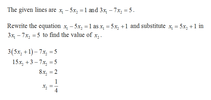 Answered: Find the point of intersection of the… | bartleby