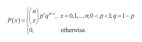 n-x x 0,1,0 p<l;q=1-p P(x)= otherwise