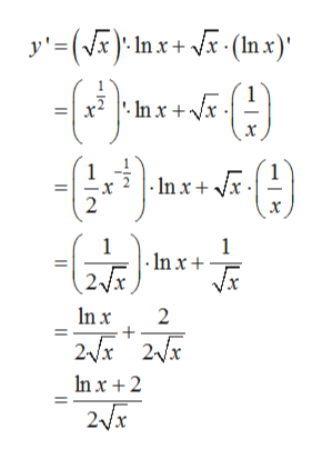 y'=() Inx(x) 1 1 In x 2 1 |-In x 1 In x 2 2x2x In x 2 2x