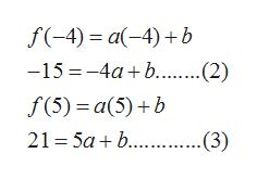 a(-4)b -15-4ab...(2) f(5) a(5)b 21 5ab...3)