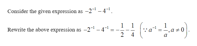 Consider the given expression as -21 -4-1 1 1 1 Rewrite the above expression as -2-1 -4-1. 2 =_ 4