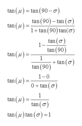 tan (u)tan (90-o tan(90)- tan (o) 1tan (90) tan(o) tan (u) tan(o tan (90) 1 +tan(o) tan (90) tan (u) 1-0 tan (4) 0+tan(o 1 tan (u) tan (o tan (u)tan (o)1