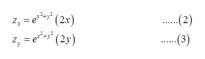 = e(2x) '(2y) (2) Zx .(3) Z
