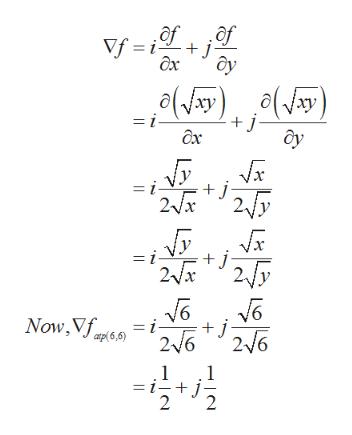 of of Vf i j дх y o(y(ay) + j- = i- дх = i- j 2fry 2x = i- j Now,Vf = i + j 216 26 2 1 -+ j 2 1