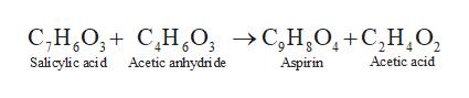 -С,Н,О, +С,Н,О, С,Н,О, + С,Н,о, >С,Н,0, +С,н.о, Salicylic acid Acetic anhydri de Аcetic acid Aspirin