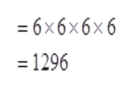 36х6х6х6 = 1296