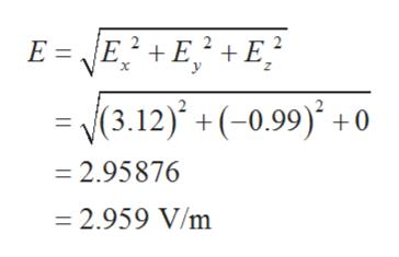 |E2+EE (3.12) +(-0.99) +0 2.95876 2.959 V/m