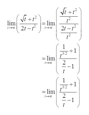 lim - lim 2t -2 1 1 3/2 = lim 2 -1 t 1 1 3/2 -lim 2 1
