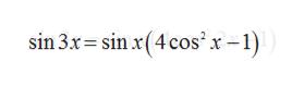 sin 3x-sinx(4cos'x-1)
