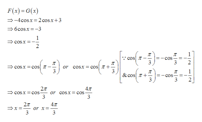 F(x) G(x) -4cosx 2 cosx+3 6cosx-3 1 cOsx 2 1 cos COS 3 2 cosx cos cosx coS or 3 &cos cos 3 3 2л - or coSX- cos 3 477 COSX cos 3 2T 47T or x=- 3
