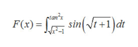 pian'x sin(t+1)dt F(x)
