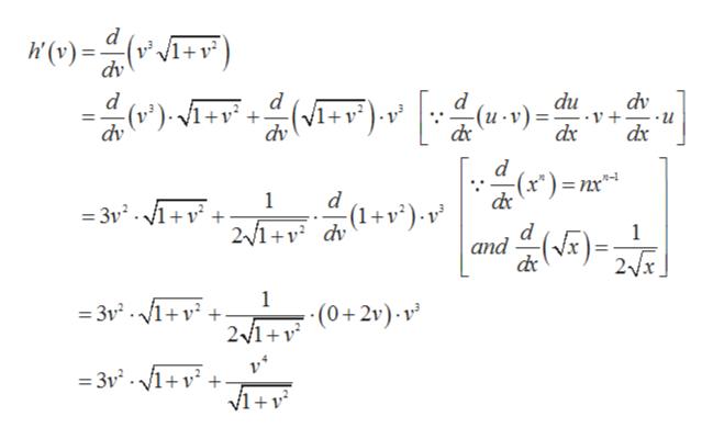 d (v) dv +v C)= dv d d + dv () d -(u v)= du - V + -u dv d d 1 = 3v. 1+v + 2/1+ dv )- v and 1 2x 1 3vV1 21 (2)- v =3v2.1+v