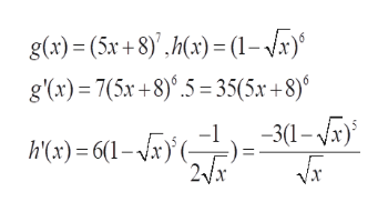 g(x)= (5x + 8),h) (1-x) g(x) 7(5r+8).5 35(5x +8) hc) = 6(-r}(-}}=30-a 2Vx Vx